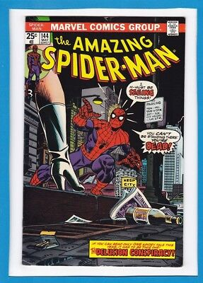 AMAZING SPIDER-MAN #144_MAY 1975_FINE_1st FULL GWEN STACY CLONE APPEARANCE!