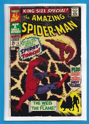 "Amazing Spider-Man King-Size Special #4_Nov 1967_Vf_""the Web & The Flame""!"