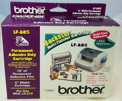 Brother LF-AO5 Permanent Adhesive Only Cartridge Backster Multi Finish Cartridge