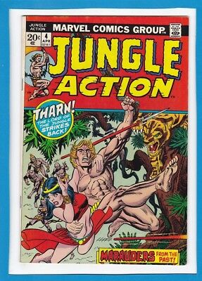 Jungle Action #4_April 1973_Fine Minus_Tharn Lord Of The Jungle Strikes Back!