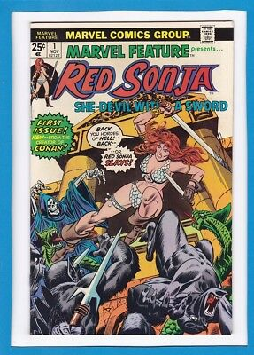 MARVEL FEATURE #1_NOV 1975_VERY FINE_RED SONJA_SPECTACULAR 1st ISSUE_BRONZE AGE!