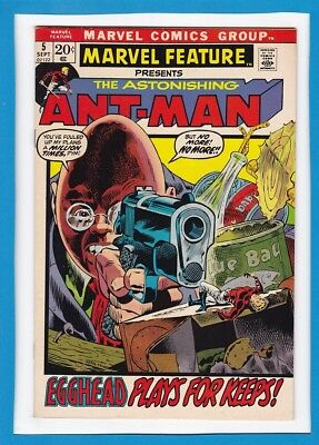 """Marvel Feature #5_Sept 1972_Very Fine Minus_Ant-Man_""""egghead Plays For Keeps""""!"""