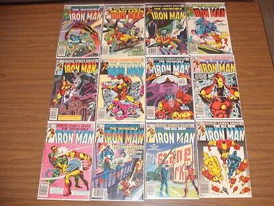 Iron Man Bronze Age Lot of 12 issues FREE SHIPPING!!!! #156-174
