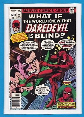 """What If #8_April 1978_Very Fine_""""what If The World Knew Daredevil Was Blind?""""!"""