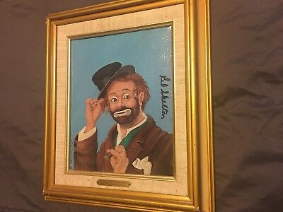 Limited Hand Signed by Red Skelton Freddie The Freeloader Lithograph on Canvas