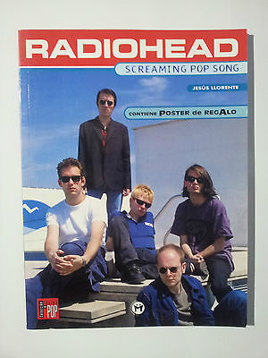 "Radiohead / Thom Yorke ""screaming Pop Songs"" Rare Spanish Book+A2 Size Poster"