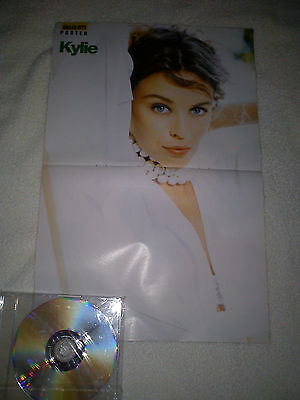 KYLIE MINOGUE RARE A3 SIZE SPANISH POSTER - EARLY 90's FROM SMASH HITS MAGAZINE