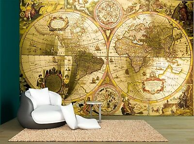 Old World Map Antique Map Wall Mural Photo Wallpaper GIANT WALL DECOR