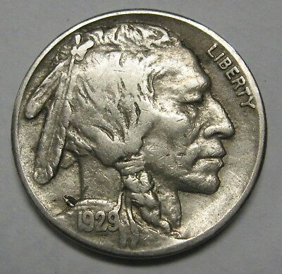 1929-S Buffalo Nickel Grading in the FINE Range Nice Original Coins