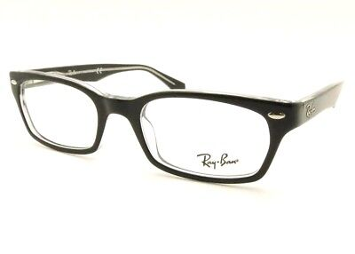 1fc091fd557 RAY BAN RB 5150 2034 Black Crystal Eyeglass New Authentic RX Frame ...