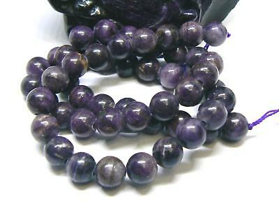 """52 NATURAL UNTREATED AFRICAN PURPLE SUGILITE ROUND BEADS 8mm 200ctw 15.5"""" strand"""