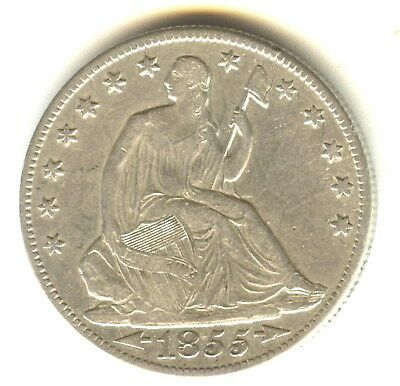 1855 O Seated Liberty Half Dollar XF+ In Grade With Arrows New Orleans Mint