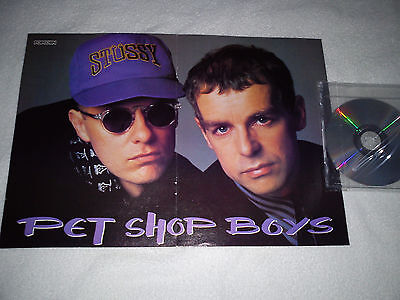 PET SHOP BOYS RARE A3 SIZE SPANISH POSTER - EARLY 90's / LOWE - TENNANT