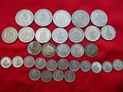 Switzerland Coin Lot ;Some Part Silver