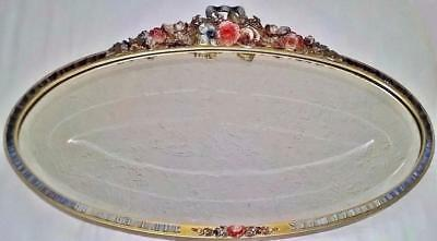 Superb Large Vintage Or Possibly Antique Barbola Wall Mirror With Bevelled Glass