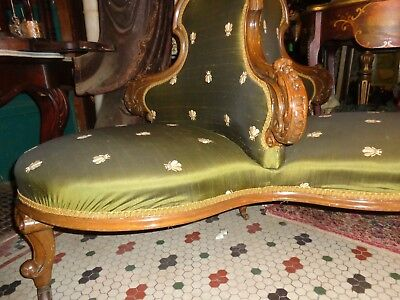 Rare Antique Victorian Borne Settee Circular Conversation Sofa Important Estate