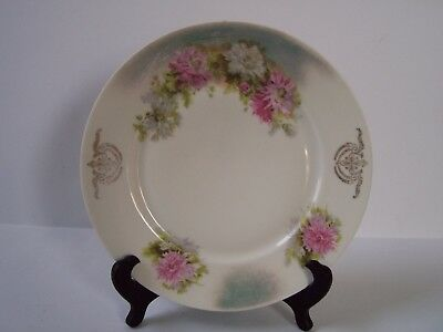 CT Altwasser Pink White Floral Porcelain Plate Hand Painted