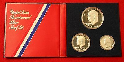 Cyberspacecoins SILVER PROOF SETS SPECIAL (1976 3-PIECE SILVER  PROOF SET)