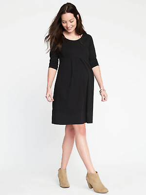 Old Navy Maternity Black Pleated A Line Dress-XL-NWT