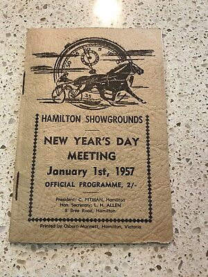 1957 Hamilton Showgrounds Trotting Race Book