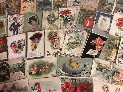 Big Vintage Lot of 86 Holidays & Greetings Postcards-Antique-~in Sleeves-p27