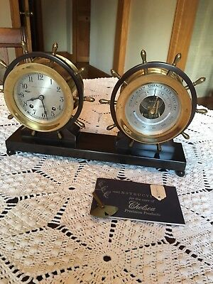 Chelsea Clock and barometer with Marshall Field and Company on Faceplate