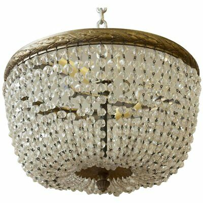 Small Crystal Or Glass Beaded Ceiling Fixture