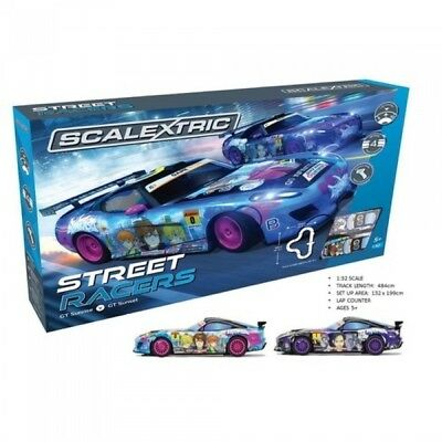 Scalextric Street Racers Slot Car Set Brand New C1376