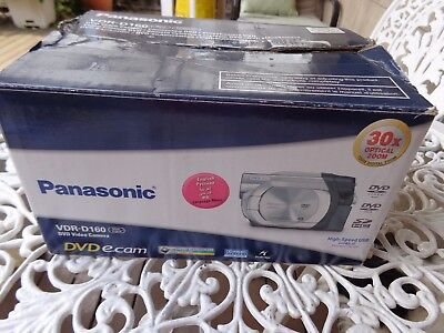 Vintage Panasonic Vdr-D160 Dvd  Video Camera, Battery Charger, Good Cond.