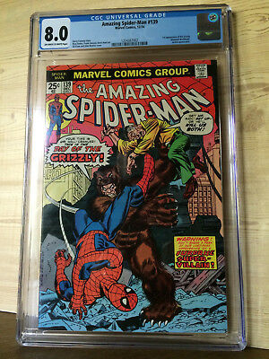 The Amazing Spider-Man #139 (Dec 1974, Marvel) CGC 8.0 1st app. the Grizzly
