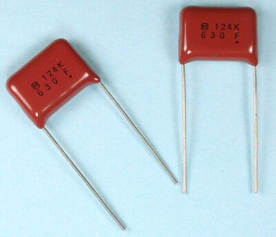 5pcs Panasonic ECQ-E 124K 630vdc Metal Film Capacitor, 0.12 10%