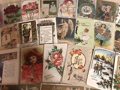 Vintage Mixed Lot of 86 Holidays & Greetings Postcards-Antique-~in Sleeves-p29