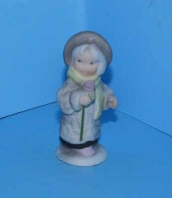 Kim Anderson Pretty As A Picture Miniature Figurine 11998 Girl Holding Rose