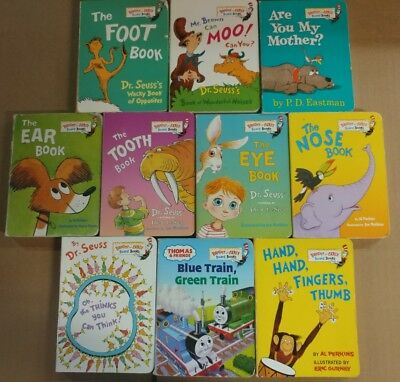 Lot of 10 Dr. Seuss Bright and Early Children Kids Read BOARD Books Ear Eye #A62