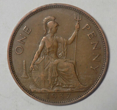 Great Britain 1937 1 Penny Coin