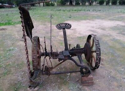 old sickle mower farm machinery garden ornament cast iron parts collectable