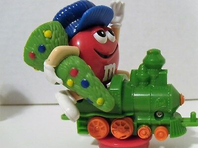 Collectible M&M candy tube toppers by Mars-Christmas M&M trains