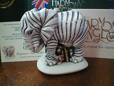 Harmony Kingdom Emperor's New Clothes Elephant Zebra Suit UK Made Marble Resin