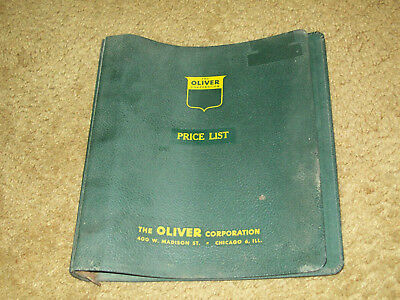 Oliver Tractor Farm Equipment Price List Empty 7 Ring Binder Oliver Corporation