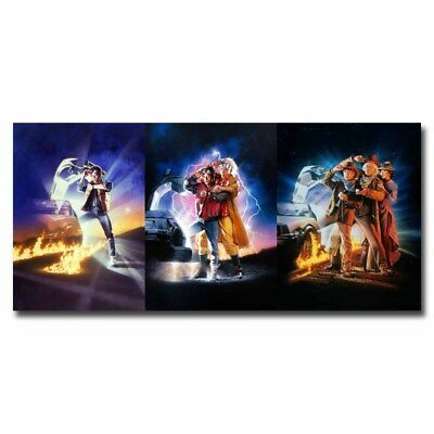 Back To The Future 123 Series 24x11inch Classic Movie Silk Poster Cool Gifts