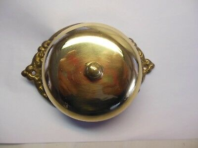 antique style mechanicsl brass and iron door bell