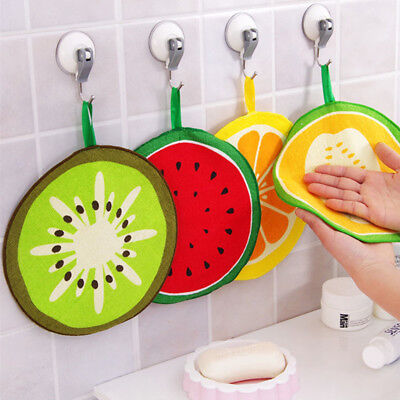 7.8inch Household Fruit Pattern Towel Microfiber Quick-drying Hanging Towel CYQ9