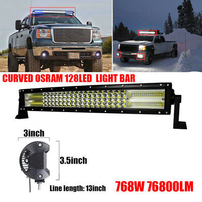 "22"" 768W OSRAM LED Combo Driving Work Light Bar Flood&Spot Offroad Driving 4WD"