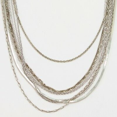 Sterling Silver - Lot of 10 Chain Link Necklaces NOT SCRAP - 20g