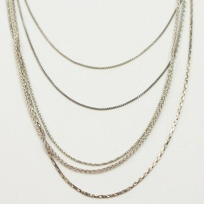 Sterling Silver - Lot of 10 Chain Link Necklaces NOT SCRAP - 16g