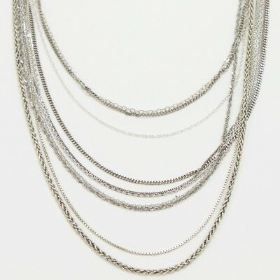 Sterling Silver - Lot of 10 Chain Link Necklaces NOT SCRAP - 18g