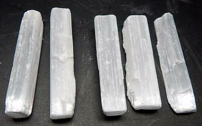 "5 Selenite Crystal Sticks 3""  Reiki Metaphysical Healing"