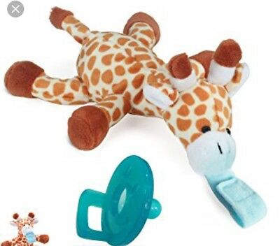 Paci-Plushies Giraffe Buddies - Pacifier Holder (Plush Toy Use with Multiple