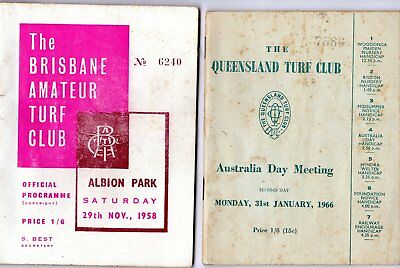 2 x BATC and QLD Turf Club race books for 1958 and 1966
