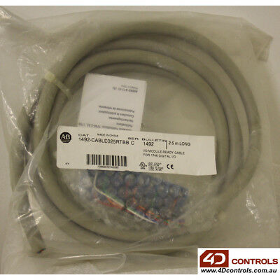 Allen Bradley 1492-CABLE025RTBB Digital I/O - New Surplus Sealed - Series C